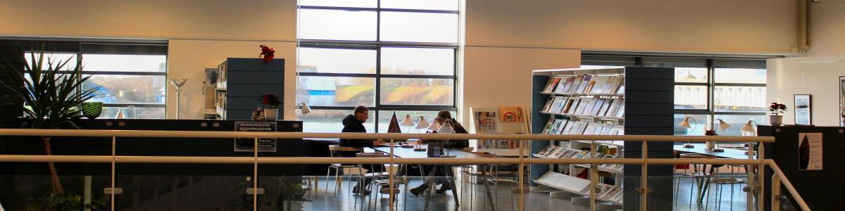 Foto af læsesalen i Kulturarkaden